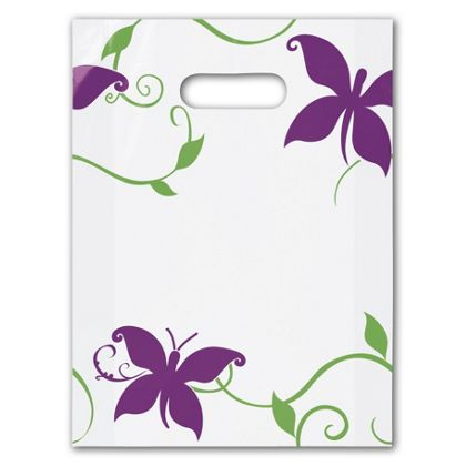 All a Flutter Frosted Merchandise Bags, 9 x 12
