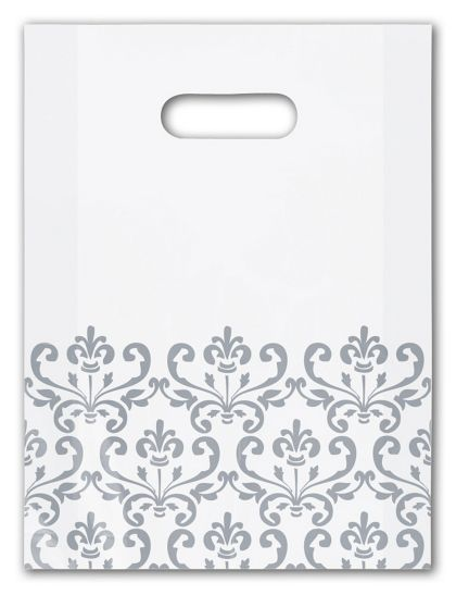 Silvery Chic Frosted Merchandise Bags, 9 x 12""