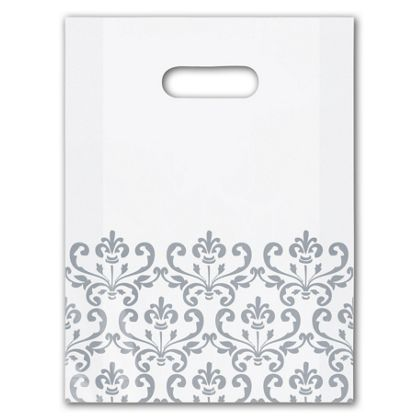 Silvery Chic Frosted Merchandise Bags, 9 x 12