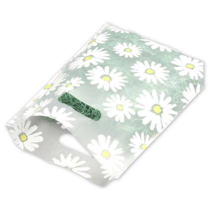Daisy Frosted Merchandise Bags, 9 x 12""