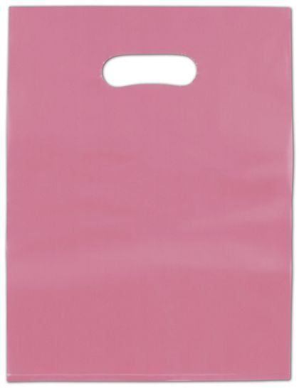 Cerise Frosted High Density Merchandise Bags, 9 x 12""