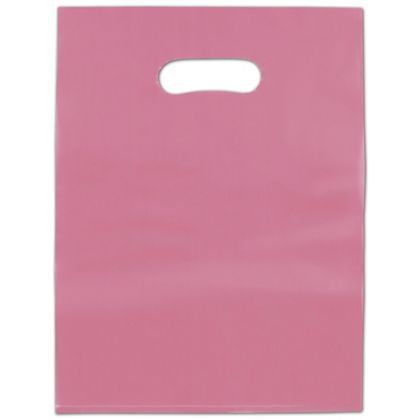 """Cerise Frosted High Density Merchandise Bags, 9 x 12"""""""