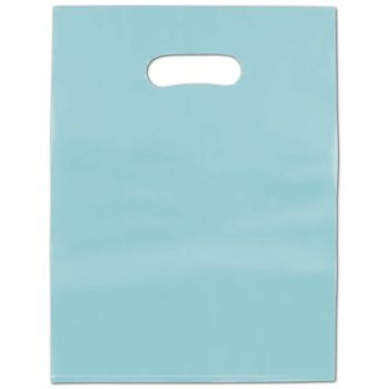 Turquoise Frosted High Density Merchandise Bags, 9 x 12