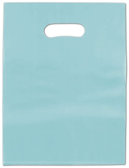 Turquoise Frosted High Density Merchandise Bags, 9 x 12""