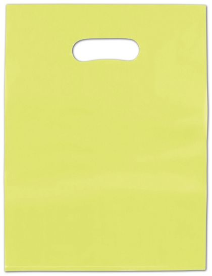 Lime Green Frosted High Density Merchandise Bags, 9 x 12""