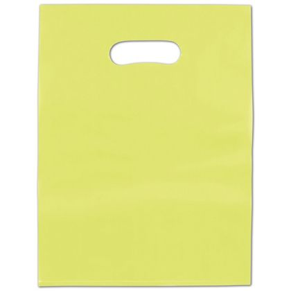 Lime Green Frosted High Density Merchandise Bags, 9 x 12