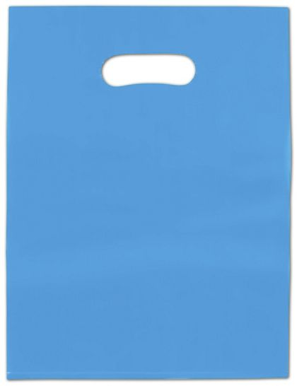 Blue Frosted High Density Merchandise Bags, 9 x 12""