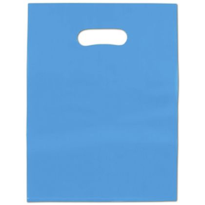 Blue Frosted High Density Merchandise Bags, 9 x 12