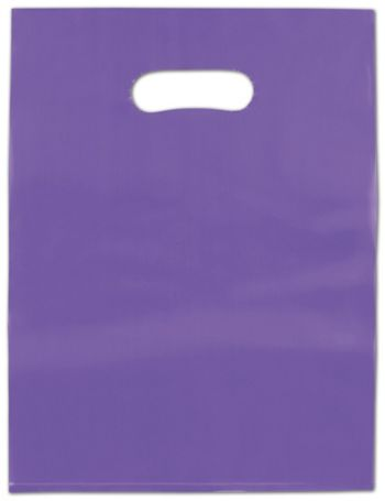 Grape Frosted High Density Merchandise Bags, 9 x 12