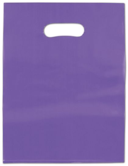 """Grape Frosted High Density Merchandise Bags, 9 x 12"""""""