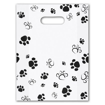 Paws Frosted Merchandise Bags, 9 x 12