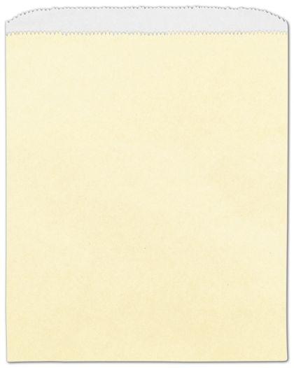 "Cream Paper Merchandise Bags, 8 1/2 x 11"""