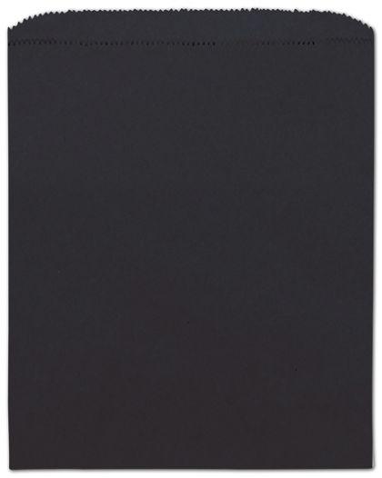 "Black Paper Merchandise Bags, 8 1/2 x 11"""