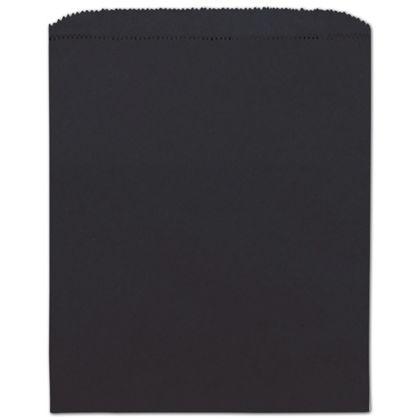 Black Paper Merchandise Bags, 8 1/2 x 11