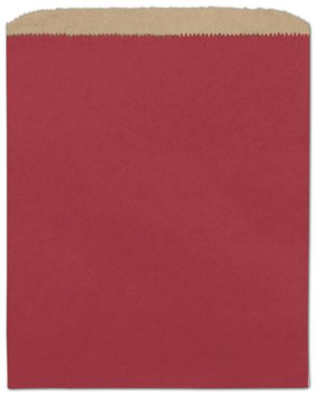 Brick Red Paper Merchandise Bags, 8 1/2 x 11