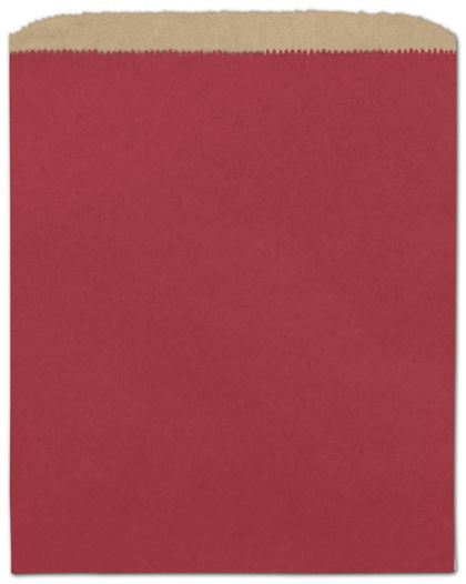 Brick Red Paper Merchandise Bags, 8 1/2 x 11""