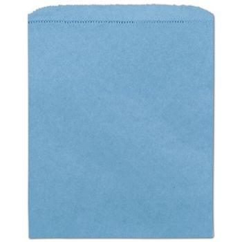 Sky Blue Paper Merchandise Bags, 8 1/2 x 11