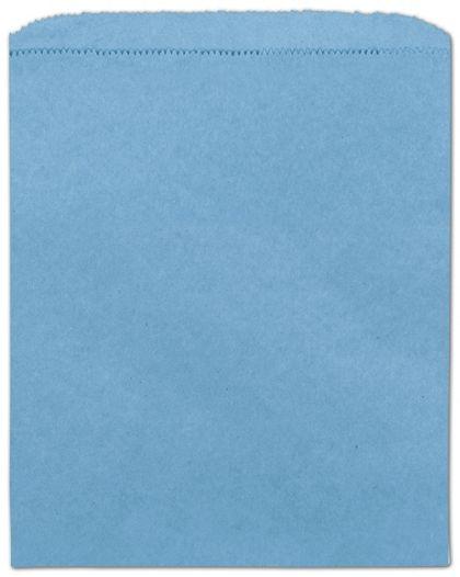 "Sky Blue Paper Merchandise Bags, 8 1/2 x 11"""