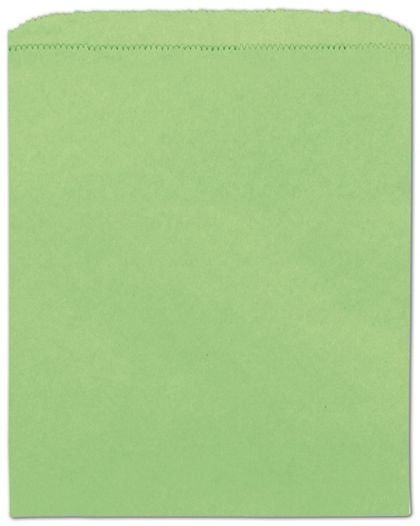 Lime Green Paper Merchandise Bags, 8 1/2 x 11""