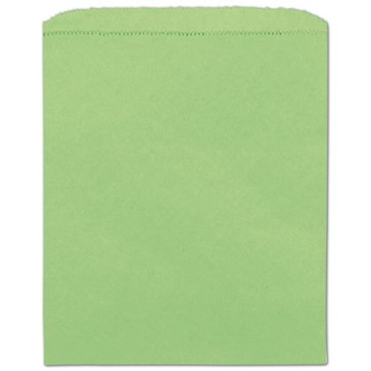 Lime Green Paper Merchandise Bags, 8 1/2 x 11