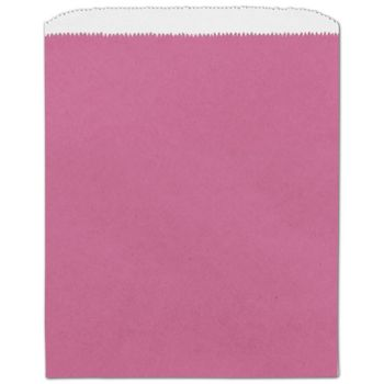 Hot Pink Paper Merchandise Bags, 8 1/2 x 11