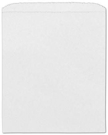 White Paper Merchandise Bags, 8 1/2 x 11