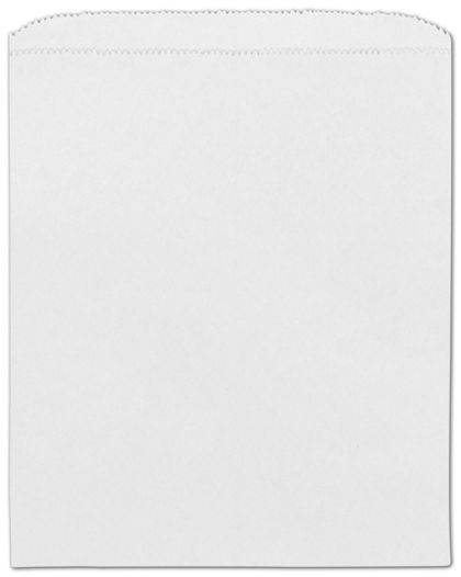 "White Paper Merchandise Bags, 8 1/2 x 11"""