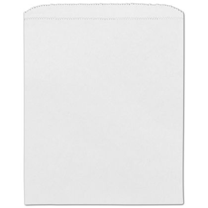 White Paper Merchandise Bags, 8 1/2 x 11