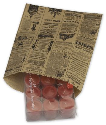 Newsprint Merchandise Bags, No Gussets, 8 1/2 x 11