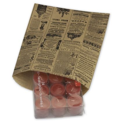 Newsprint Merchandise Bags, No Gussets, 8 1/2 x 11""