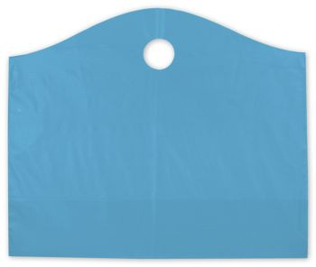 Lagoon Blue Frosted Wave Merchandise Bags, 22 x 8 x 18