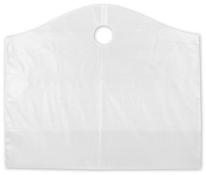 Clear Frosted Wave Merchandise Bags, 22 x 8 x 18""