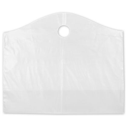 Clear Frosted Wave Merchandise Bags, 22 x 8 x 18