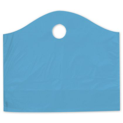 Lagoon Blue Frosted Wave Merchandise Bags, 18 x 6 x 15