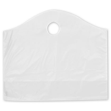 Clear Frosted Wave Merchandise Bags, 18 x 6 x 15""