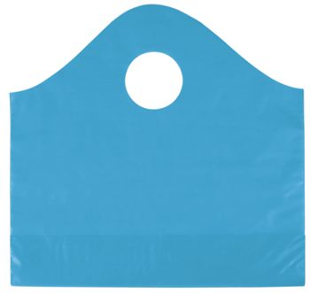 Lagoon Blue Frosted Wave Merchandise Bags, 12 x 4 x 11