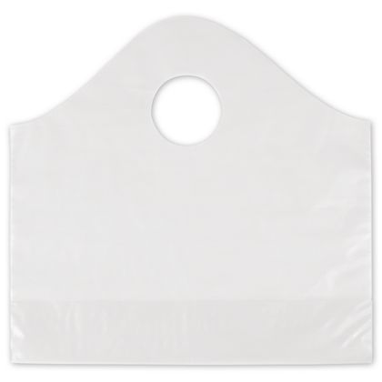 Clear Frosted Wave Merchandise Bags, 12 x 4 x 11