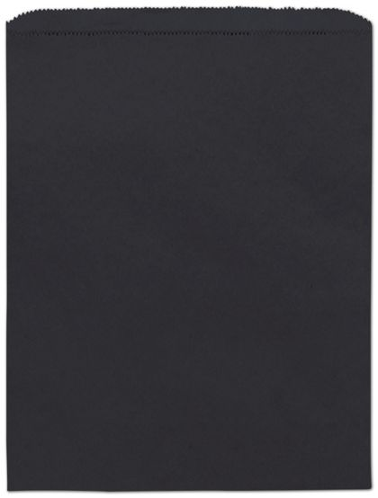 "Black Paper Merchandise Bags, 12 x 15"""