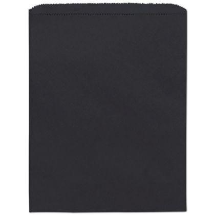 Black Paper Merchandise Bags, 12 x 15