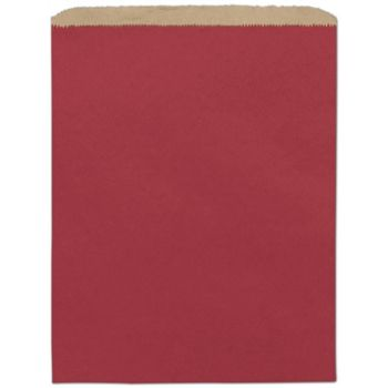 Brick Red Paper Merchandise Bags, 12 x 15