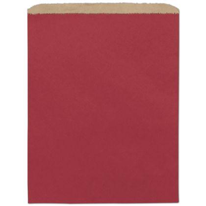 Brick Red Paper Merchandise Bags, 12 x 15