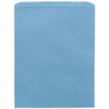 Sky Blue Paper Merchandise Bags, 12 x 15