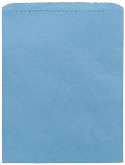 "Sky Blue Paper Merchandise Bags, 12 x 15"""