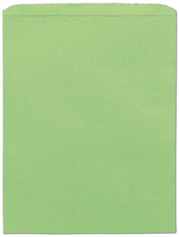 Lime Green Paper Merchandise Bags, 12 x 15