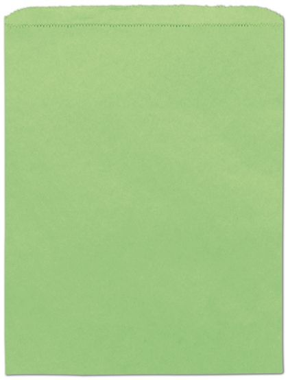 Lime Green Paper Merchandise Bags, 12 x 15""