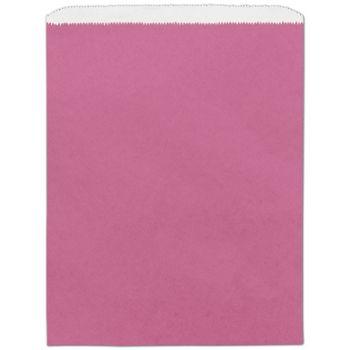 Hot Pink Paper Merchandise Bags, 12 x 15