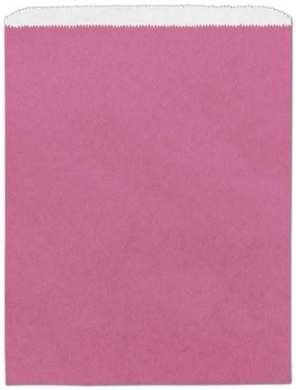 "Hot Pink Paper Merchandise Bags, 12 x 15"""