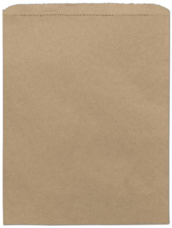Kraft Paper Merchandise Bags, 12 x 15