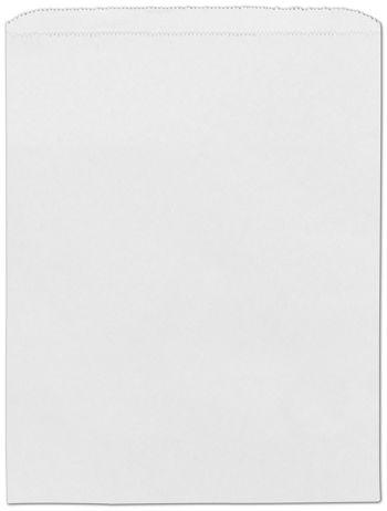 White Paper Merchandise Bags, 12 x 15