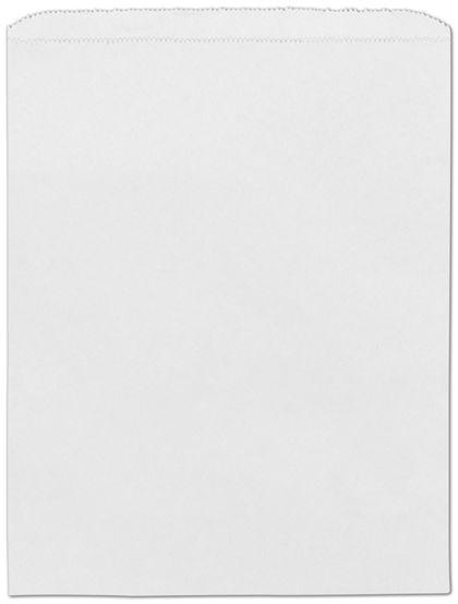 "White Paper Merchandise Bags, 12 x 15"""